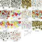 Hot Acrylic Assorted Alphabet English Letter Flat Round Cube Heart Spacer Beads