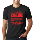I JUST LIKE SMILING MY FAVORITE funny Elf Christmas present movie gift T-shirt