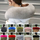 Women Warm 100% Genuine Whole Fox Fur Collar Wrap Scarf Shawl Coat Jacket Collar
