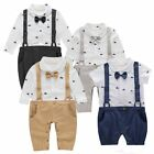 Baby Toddler Boy Wedding Christening Tuxedo Formal Suits Outfit Clothes Romper