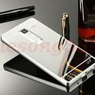 Big Silver Ultra Slim Metal Bumper Mirror Case Cover For Various Mobile Phone