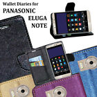Diary Wallet Style Folio Flip Flap Cover Case For Panasonic Eluga Note 4G Volte
