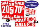 Sale posters and Sale signs %off package for shops with Tickets you choose
