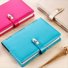 A5 Size Business Planner Schedule Notebook Buckle Diary PU Leather Note Book #AU