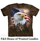 INDEPENDENCE EAGLE T-Shirt by The Mountain  # 4848 (Adult Men's Sizes) S-3XL NEW