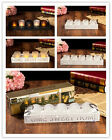 Home Sweet Home  LED Tea Light Candle Holder White Wood Tray set 4 or 5 Gift