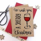 6/10 Luxury kraft christmas cards SHERRY MERRY CHRISTMAS & envelopes
