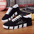 Korean Fashion Men's Canvas Lace Up Athletic Sneakers Sports Casual Board shoes
