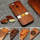Carved 100% Natural Wooden Wood Bamboo Case Cover For Apple iPhone 5 6 S 7 plus