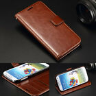 """Magnetic Card Pocket Wallet Leather Case Cover For 5"""" Samsung Galaxy S4 I9500"""