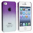 Slim Raindrop Hard Case for iPhone 4 / 4S - Purple