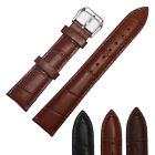 Men's Genuine Leather Wrist Watch Strap Band Replacement 12/14/16/18/20/22