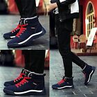Men's Casual Winter Fur Lining Warm Snow Boots Skate Shoes High Top Sneakers new