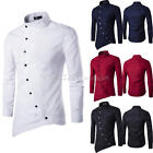 Fashion Men's Luxury Casual Slim Fit Shirt Stylish Long Sleeve Dress Shirts Top