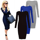 Fashion Women Bandage Bodycon Evening Cocktail Party Long Sleeve Mini Dress