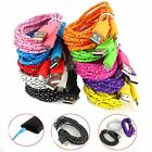 1M 3ft Braided Fabric Micro USB Data&Sync Charger Cable Cord For Samsung 18a07