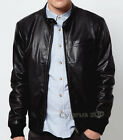 Men's Stylish James Bond One Pocket Black Faux leather jacket - christmas gift $89.99 USD