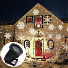 Outdoor LED Moving Snowflake Landscape Laser Projector Lamp Xmas Garden Light X