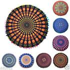 Mandala Floor Cushion Bohemian Floor Cushion Cover Indian Round Pillow Sham Case