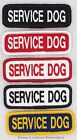 1 SERVICE DOG 1X3 INCH TITLE PATCH Danny & LuAnns Embroidery assistance support