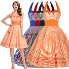 50s 60s Vintage Swing Style Short MINI Masquerade Party Retro Floral Women Dress