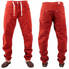 BNWT MENS LATEST ENZO EZ195 CUFFED JEANS RED CHINOS SIZES 28R  36R £9.99
