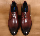 Men's Genuine Cow Leather Shoes Dress Formal Classic Brown Black Size 5~12