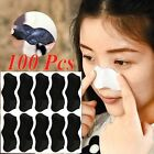100pcs Nose Pore Cleanning Strips Blackhead Remover Peel Off mask Nose Sticker