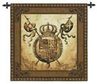 Medieval Coat of Arms Terra Nova II Woven Art Tapestry Wall Hanging Made in USA