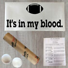 Wall Decal Quote It's In My Blood Football Vinyl Sports Sticker Decor (R144)