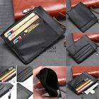 Unisex Card Holder Wallet Coin Purse Clutch Zipper Leather Change Bag TXSU