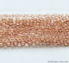 ROSE GOLD FILLED FLAT CABLE CHAIN Link 1.3 x 1.7 mm Bulk Unfinished Chain