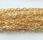 GOLD FILLED FLAT CABLE CHAIN.Link 2.3 x 3.0 mm Unfinished Bulk Chain
