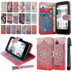 For Alcatel Dawn 5027/Acquire/Ideal 4060A Flip Wallet Skin POUCH Case Cover +Pen