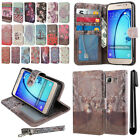 For Samsung Galaxy On5 G550 G500 Flip Wallet LEATHER Skin POUCH Case Cover + Pen