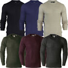 Mens Brave Soul Chunky Cable Knit Jumper Warm Knitted Pullover Winter Sweater