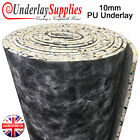 10mm PU Carpet Underlay Rolls UK Manufactured Quality Luxury Feel Best Cushion