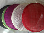 13 cm round  sinamay fascinator base Great for making fascinators/party hats
