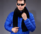 Men's 100% Real Knitted Farm Mink Fur Stole Cape Shawl Worth Buying Sale Scarf