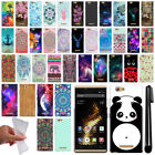 For BLU Vivo XL Cute Design TPU SILICONE Soft Skin Case Phone Cover + Pen