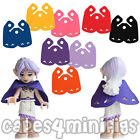 3 CUSTOM Short Capes for Lego friends elves minifigs. 21490 style - CAPE ONLY