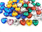 5 large diamante heart buttons 2 holes 20 mm lots of colours