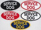 SERVICE DOG 2X4 inch OVAL PATCH Danny & LuAnns Embroidery assistance support