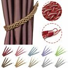 1Pair Braided Satin Rope Curtain Weaving Color Matching Hang Curtain Rope B248S
