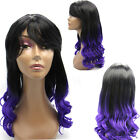 Cosplay Costume Ombre Women Long Synthetic Loose Wavy Wigs w/Bang 26'' Full Head