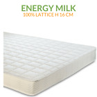 Evergreenweb Materasso Lattice 100% lato estivo/invernale H16 | Energy Milk