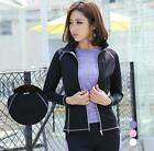 Women Yoga Coat Lady Sport Outdoor Athletic Jacket Run Gym Practice Fitness S9