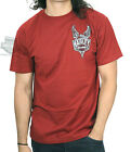 Harley-Davidson Mens Upwing Badge Eagle with B&S Brick Red Short Sleeve T-Shirt