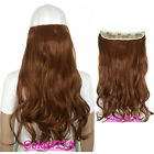 Wavy 5 clips on hair piece clip in hair extensions B5 fiber similar as remy