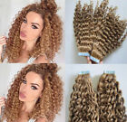 Hot Sale Deep CurlyTape Band 100% Remy Human Hair Extension Many Colors Selected